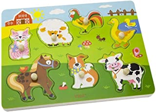 Wooden Sound Puzzle-Farm Animals-Wooden Educational Toys
