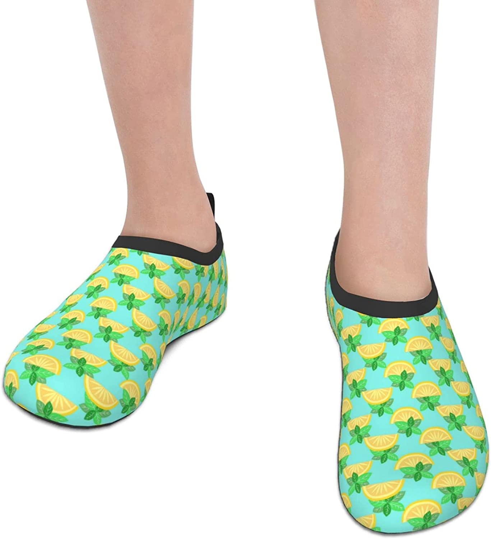 Jedenkuku Lemon Tropical Cute Pop Children's Water Shoes Feel Barefoot for Swimming Beach Boating Surfing Yoga