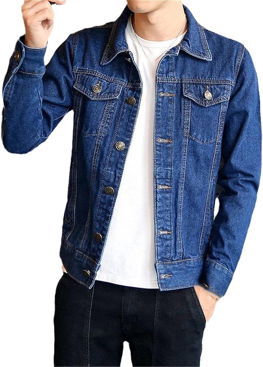 Men's Jeans Bomber Jacket Hip Hop Retro Denim Jacket Jacket Streetwear