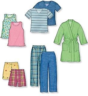 New Look Sewing Pattern 6847 Child Sleepwear, Size A (3-4-5-6-7-8)