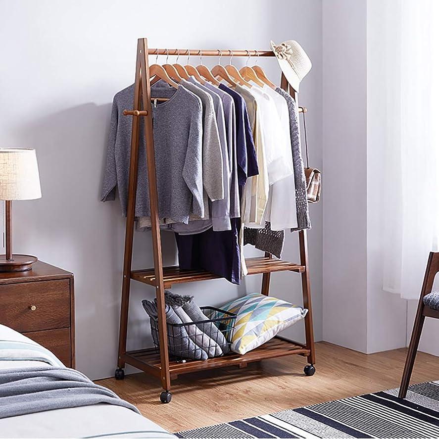 パス職人はげハンガーラック, クリエイティブコートラックの寝室のハンガー-強いシンプルな現代服ラックに耐える松の木の品質