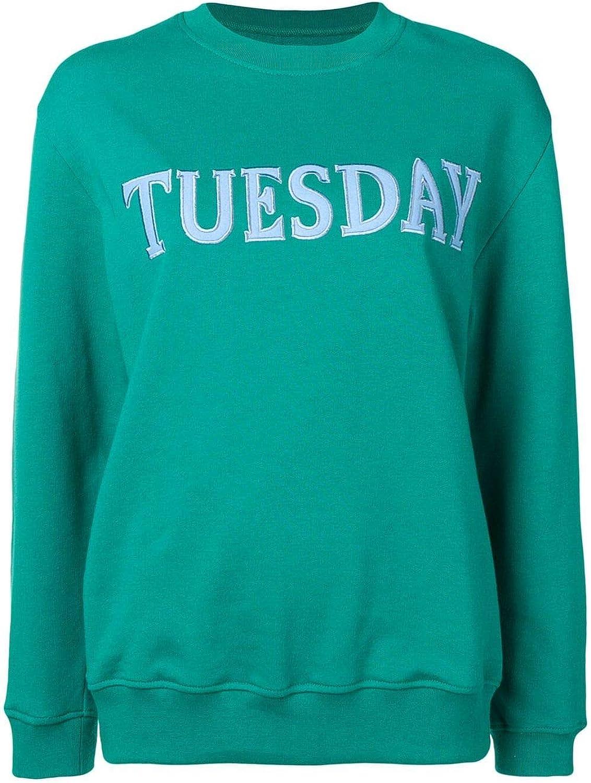 Alberta Ferretti Women's J170116760370 Green Cotton Sweatshirt