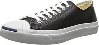 Converse Jack Purcell Leather Fashion-Sneakers, Black/White, 10.5 B(M) US Women / 9 D(M) US Men