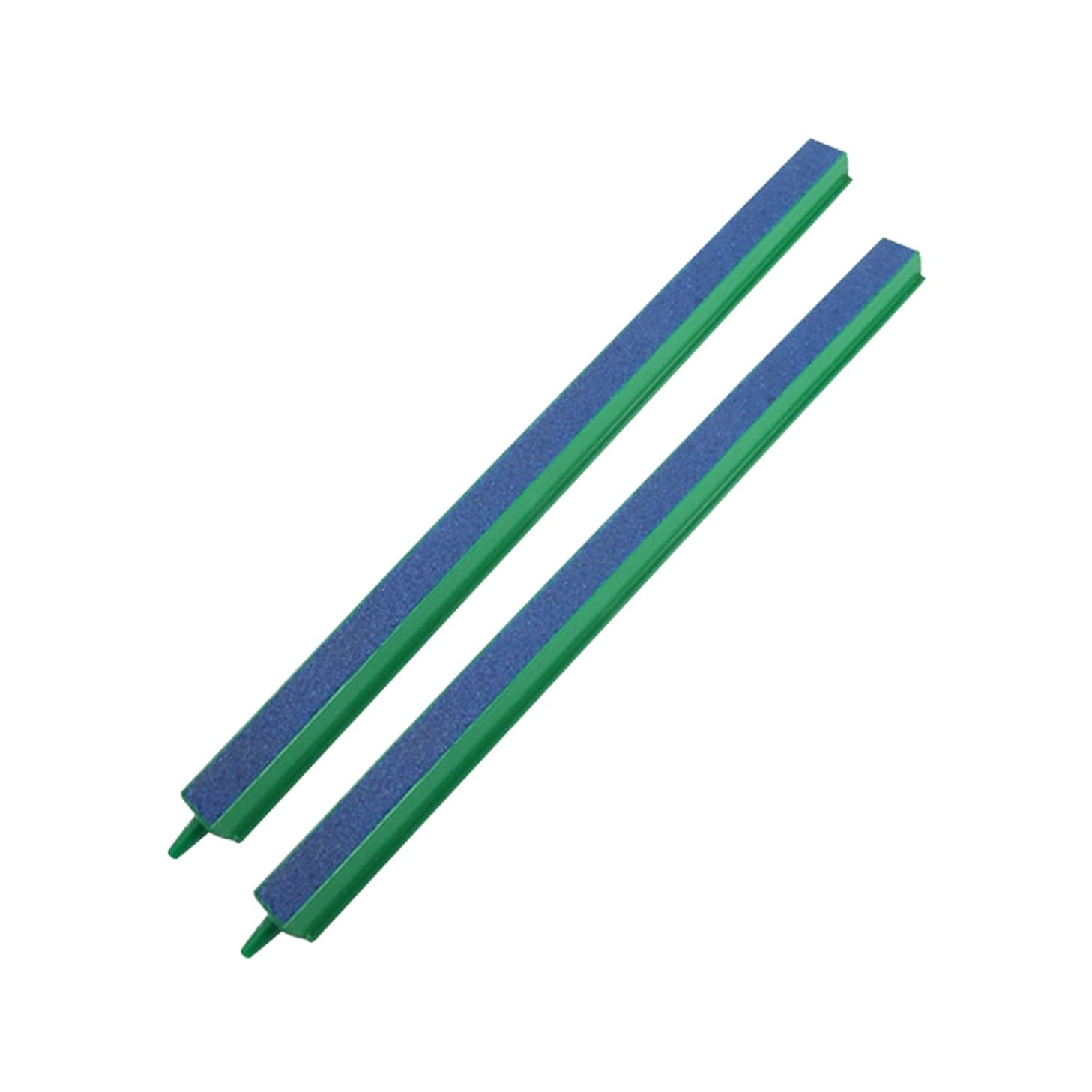 CNZ Fish Tank Air Bubble 2-Piece Air Stone Bars Green/Blue