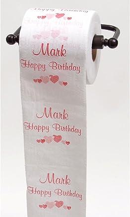 Feliz Cumpleaños Papel Higiénico–Top 25macho nombres personalizados por JustPaperRoses®, MARK, 1