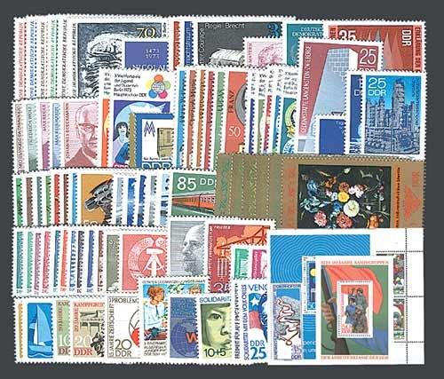 Goldhahn DDR Jahrgang 1973 postfrisch komplett Briefmarken für Sammler