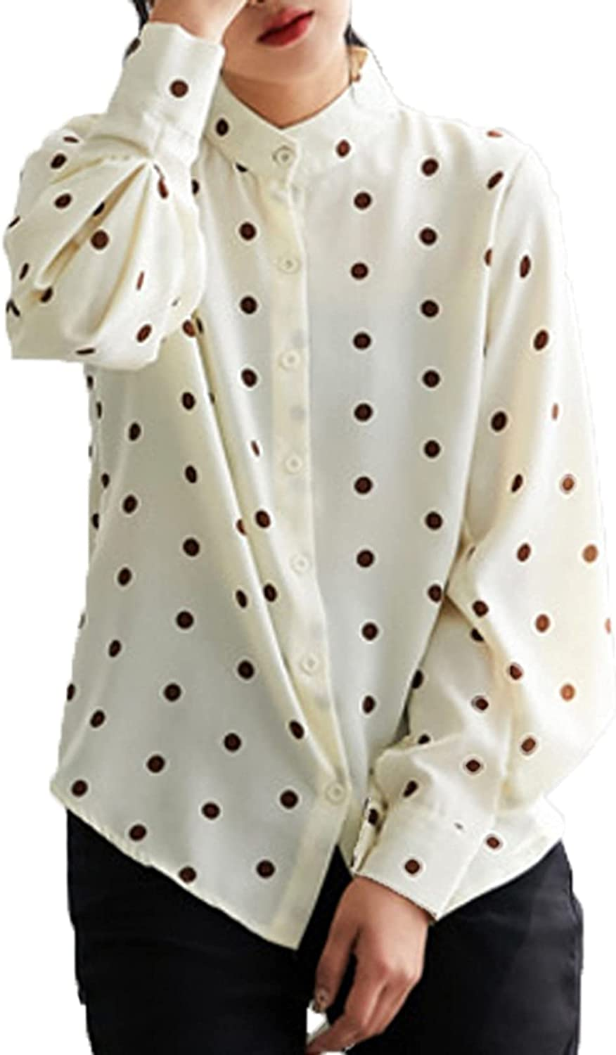 Blouse for Ladies Not Easy to Formal Dot E Comfortable New sales Fade Polk Miami Mall