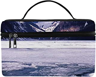 Winter Utility Lunch Bag,Lake Louise Alberta Canada Tourist Attraction Landscape Mountains Travel Vacation for Home,One size