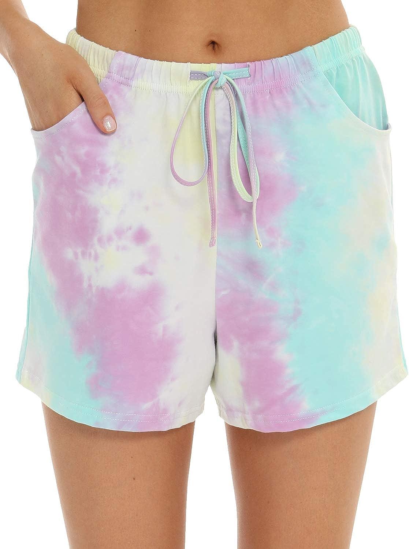 EISHOPEER Women's Pajama Shorts Comfy Lounge Drawstring Sleeping