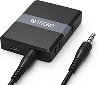 TROND Bluetooth V4.1 Transmitter Receiver, 2-in-1 Wireless 3.5mm Audio Adapter, AptX Low Latency, Smart Codec Indicator, 2...