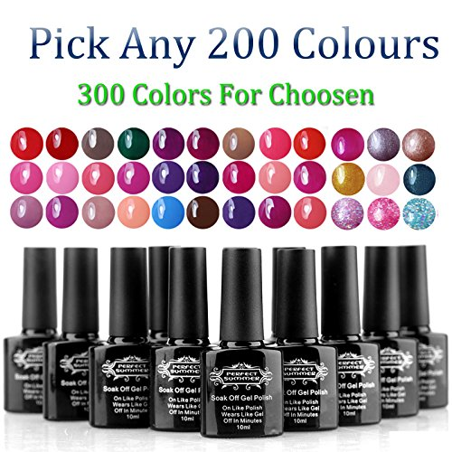 Perfect Summer Pick Any 200pcs Gel Nail Polish Colors UV/LED Soak Off 10ml Nail Lacquers Manicure Kit(Pick Any 200pcs Then Email US!)