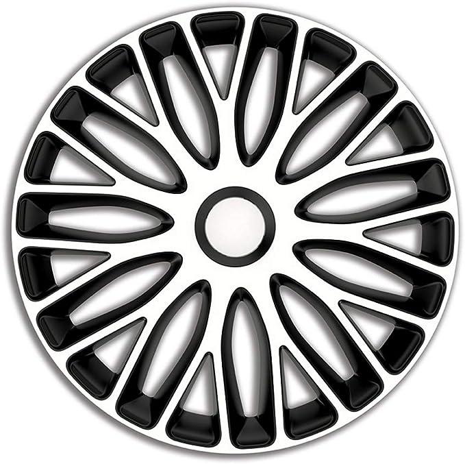 Satz Radzierblenden Mugello 17 Zoll Weiß Schwarz Auto