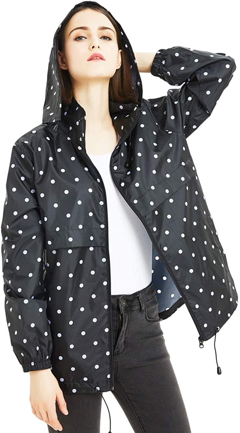 SUNDAY ROSE Women Rain Jacket Raincoat Waterproof In a Directly managed store popularity Packable Hoode