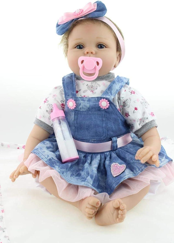 tomamos a los clientes como nuestro dios ZIYIUI 22 22 22 Pulgadas 55cm Lifelike niña Reborn Baby Doll Silicona Vinilo Hecho a Mano Magnético Chupete Juguete Navidad Regalos  compra limitada