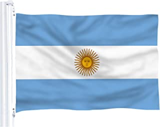 DFLIVE Argentina Flag 3x5 ft Printed Polyester Fly Argentinian National Flag Banner with Brass Grommets