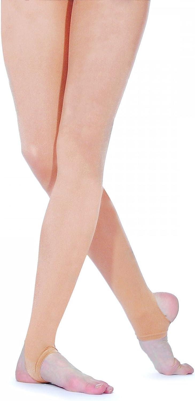 Silky Big Girls'Matte Stirrup Dance Tights