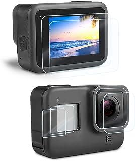 Displaybescherming beschermfolie voor GoPro Hero 8 Black, iTrunk ultra-vrij gehard glas displaybescherming + hardglas lens...