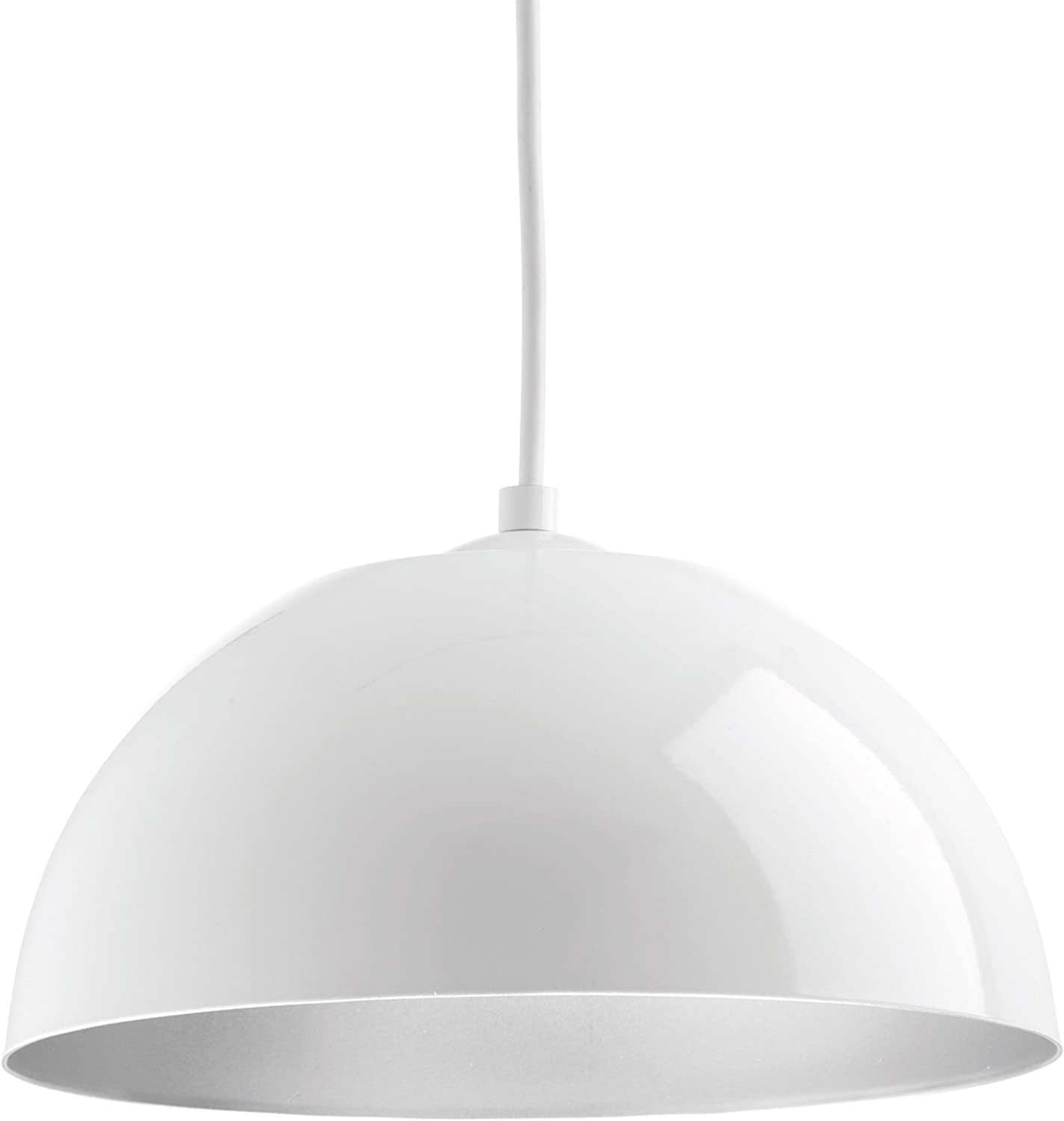 Progress Lighting P5340-3030K9 Dome One-Light Pendant w HAL AC LED Module, White
