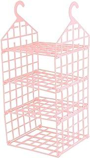 Emoshayoga Support de Rangement de Garde-Robe Durable à 3 Couches Facile à démonter pour économiser de l'espace(Pink)