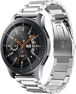 Kartice Compatible with Samsung Galaxy Watch (46mm) Bands 22mm Solid Stainless Steel Metal Replacement Strap for Galaxy Watch (46mm) SM-R800 (Silver)