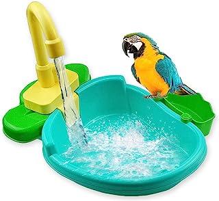 Rosydream Bird Bath Tub Parrot Automatic Bathtub with Faucet Bird Shower Bathing Tub Bird Feeder Bowl Parrot Automatic Bat...