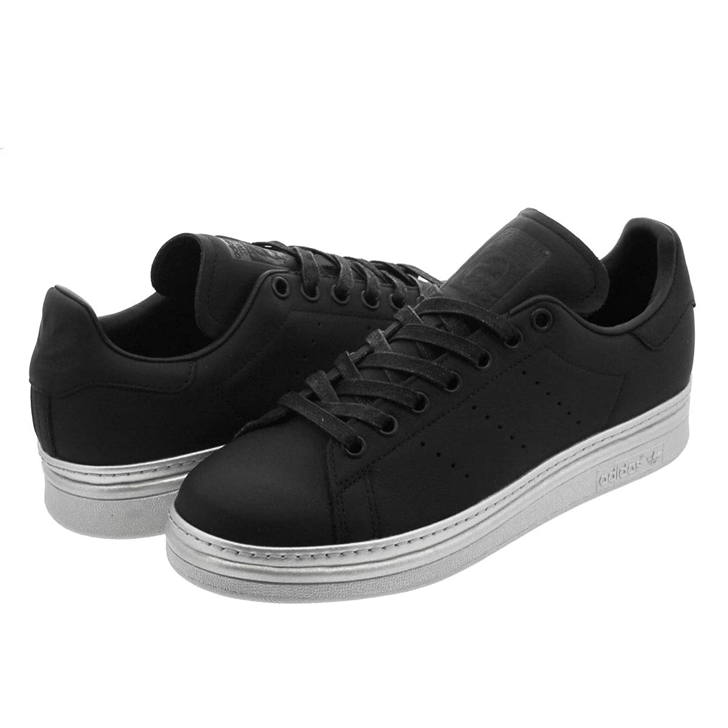 [アディダス] STAN SMITH NEW BOLD W CORE BLACK/CORE BLACK/SILVER MET