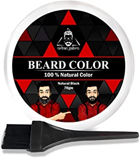 Urbangabru Beard Color for men Black -100% Natural heena powder -70 gm