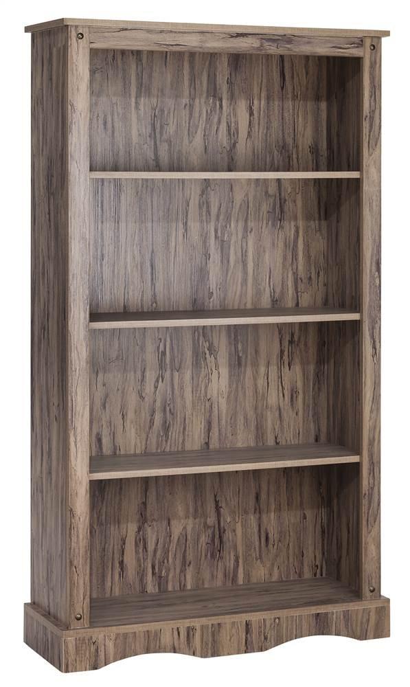 Elegant Home Fashions 4-Shelf Bookcase in Maple Finish
