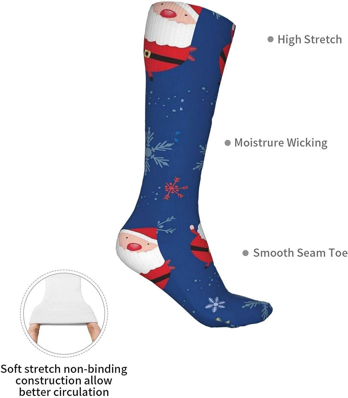 Santa Claus Women Premium High Socks, Stocking High Leg Warmer Sockings Crew Sock For Daily And Work