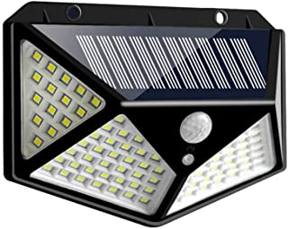 RUIQIMAO 3 Modes 100 LED Wall Solar Lights Outdoor Motion Sensor Security Light Wall Mount 270°Wide Solar Powered Waterproof Heatproof for Garden Outside Front Door Backyard Steps Garage