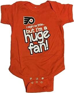 Soft As A Grape Philadelphia Flyers SAAG Baby Infant Orange Huge Fan One Piece Outfit