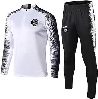 Weqenqing Abbigliamento Sportivo A Maniche Lunghe Paris Maglia con Zip Intera Tuta da Allenamento Traspirante per Sport Primaverili E Autunnali Tuta da Allenamento da Calcio