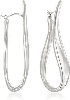 Italian Sterling Silver U-Hoop Earrings