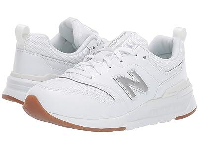 New Balance Kids 997Hv1 (Big Kid) (White/Silver) Kids Shoes