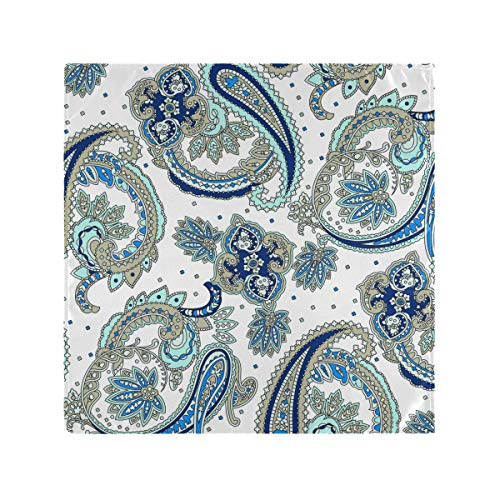 Auskid Traditional Persian Paisley Cloth Napkins Set of 6, Washable Polyester Dinner Napkin, 20 x 20 Inch Table Napkins for Family, Parties, Weddings, Restaurant, Holiday Dinner