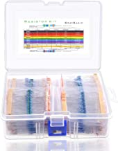 Anezus 1280 Pcs 64 Values Resistor Kit 1 Ohm-10M Ohm with 1% 1/4W Metal Film Resistors Assortment