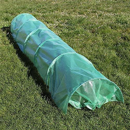 Folientunnel 300x65x45cm, Pflanztunnel mit PE-Gitternetzfolie, Frühbeet-Schutztunnel