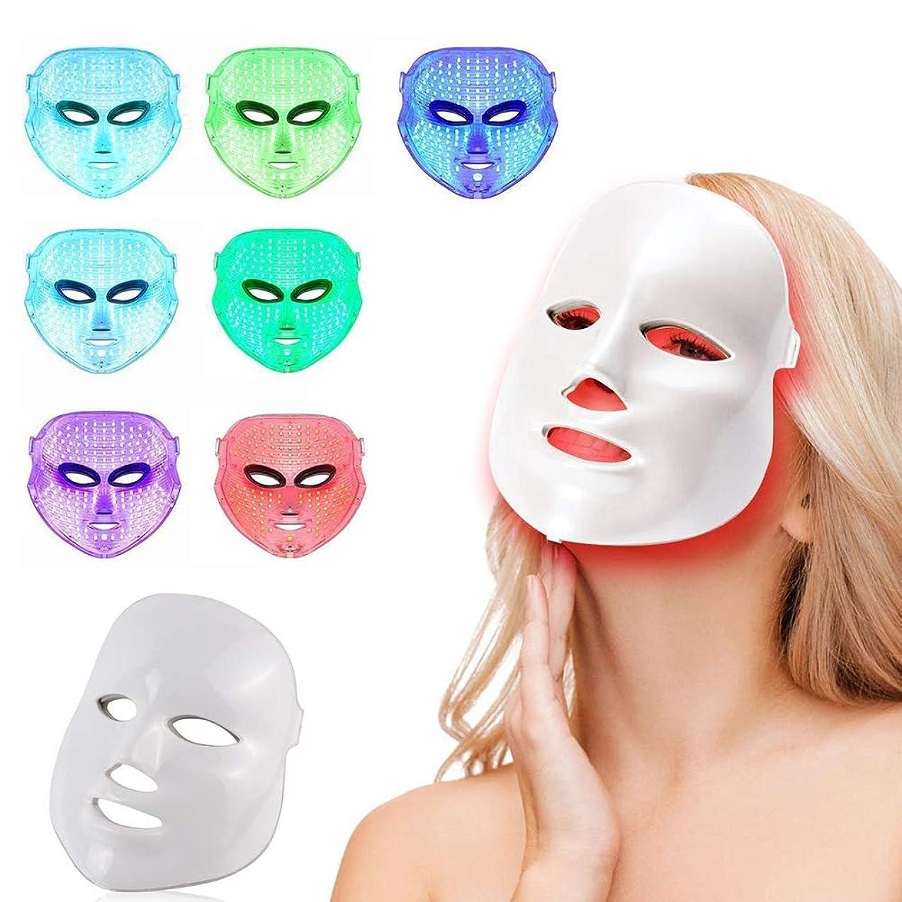 ストレンジャーソーダ水ジョガー7色LEDフェイスマスク、健康な肌の若返りのための光子光療法、フェイシャルスキンケア、アンチエイジングビューティー