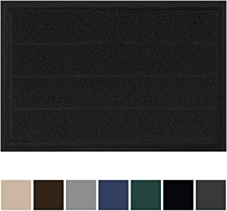 Gorilla Grip Original Durable Indoor Door Mat, 35x23, Large Size, Heavy Duty Doormats, Commercial Waterproof Stripe Doormat, Easy Clean, Low-Profile Mats for Entry, Garage, High Traffic Areas, Black