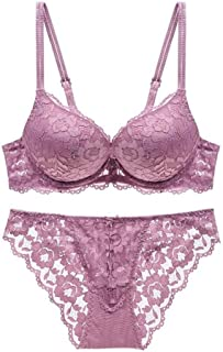 SHENTIANWEI Sexy lingerie lace gather adjustable bra (Color : Bean paste, Size : 75A)