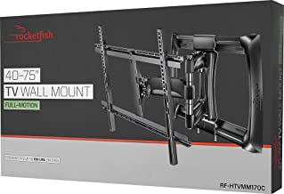 """$105 » Rocketfish - Full-Motion TV Wall Mount for Most 40"""" - 75"""" TVs (RF-HTVMM170C) Black - New, Non-Retail Packaging"""