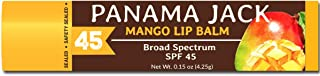 Panama Jack SPF 45 Sunscreen Lip Balm, Broad Spectrum, Prevents & Soothes Dry, Chapped Lips (Mango, Pack of 1)