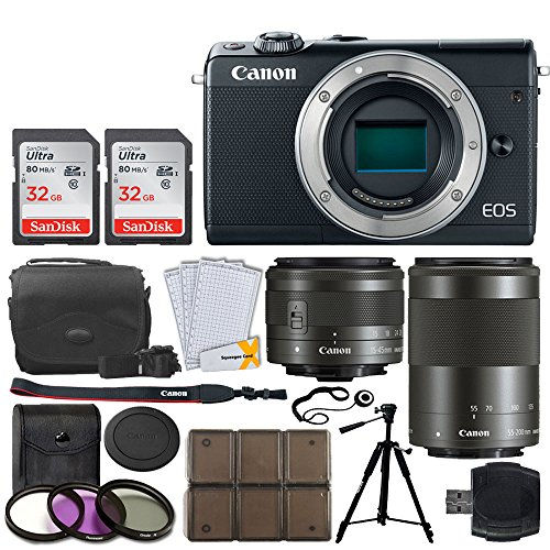 Canon EOS M100 Mirrorless Digital Camera + EF-M 15-45mm f/3.5-6.3 is STM Lens