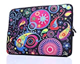 11.6-Inch to 12-Inch Neoprene Laptop Sleeve Case Bag with Hidden Handles for 11', 11.6', 12', 12.5' Women MacBook/Tablet/Notebook/Ultrabook/Chromebook (Colorful)