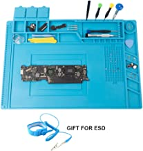 CPB Magnetic Repair Mat for Electronics Screw Soldering Silicone Static Work Mat with ESD Wrist Strap Compatible with Iphone Ipad IMac Laptop Computer Soldering Iron Size:17.8 x 11.8 inch