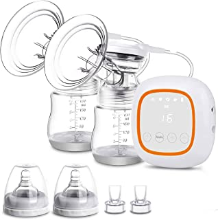 Electric Breast Pump, Hospital Grade Pain Free Handheld Breast Pump Portable Levels Feeding Pump Great Massage Mode for Mo...