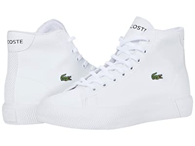 Lacoste Kids Gripshot Mid 0120 2 CUJ (Little Kid/Big Kid) (White/White) Kid