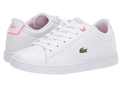 Lacoste Kids Carnaby Evo Bl 2 (Little Kid) (White/Pink) Kid