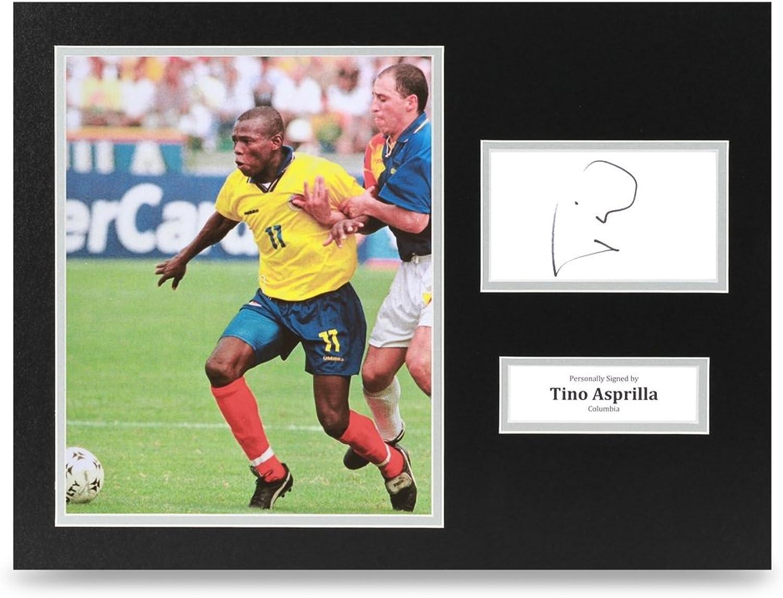 Tino Asprilla Signed 16x12 Photo Display Columbia Autograph Memorabilia + COA