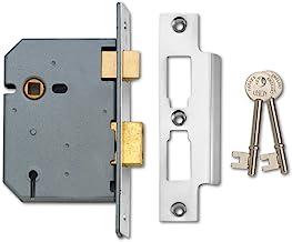 Union Locks 2277 3 Hendel Mortice Sash Lock 77.5mm - Satijn Chroom (Visi Pack)